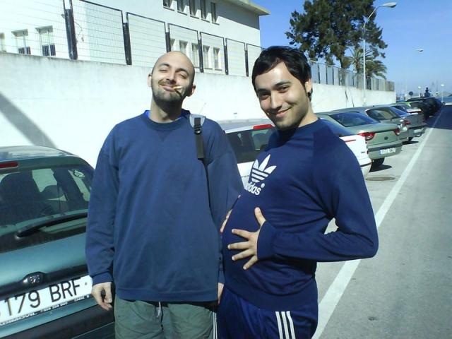 Maga y PacoM embarazados