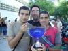 PacoM, Ruli y Antoñaki con copa